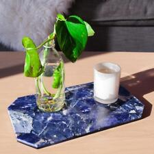 NEW Stoned Crystals Rectangle Tray Table Sodalite Candles Jewelry Cheese Decor