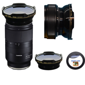 HD WIDE ANGLE LENS + MACRO LENS FOR Tamron 28-75mm f/2.8 Di III RXD Lens Sony E