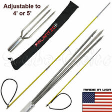 Spearfishing Travel Pole Spear Hawaiian Sling with 3 Prong & Lionfish Tips Set
