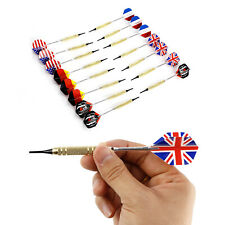 15pcs Soft Tip Dart Darts With National Flag Flight Flights +Replacement Tips