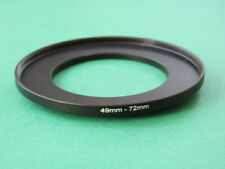 49mm-72mm Stepping Step Up Male-Female Filter Ring Adapter 49mm-72mm
