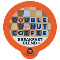 Double Donut Breakfast Blend Coffee Single Serve cups for Keurig K-cup Brewer