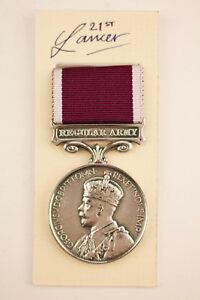 WW1 GEORGE V BRITISH REGULAR ARMY LONG SERVICE AND GOOD CONDUCT LSGC MEDAL