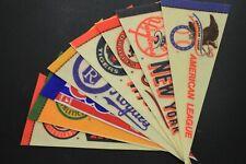"""Vintage 1970s Major League Baseball Mini Felt 9"""" Pennants-Lot of 17"""