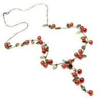 1 PCS Red Cherries Women Retro Popular Pendant Necklace Beautiful NEW jewelry