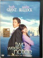 Dvd Two weeks notice - Due settimane per innamorarsi - ed. Snapper Usato