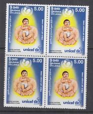 SRI LANKA, 1996 UNICEF 5r., block of 4, mnh.