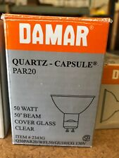 Damar NO 2343G. 50W 130V Cover glass clear, sold in bundle of 7