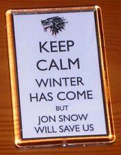 Game Of Thrones Jon Snow Keep Calm Stark Sigil Fridge Magnet