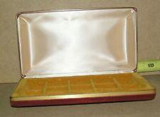 Vintage MELE Jewelry Box Organizer Fabric Burgundy Clam Shell
