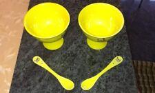 2 Eisbecher inkl. 2 Löffel sonnig gelb von FAMILY FROST