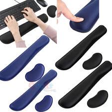 2x Teclado suave de espuma de memoria Almohadilla de soporte de descanso de la muñeca + Almohadilla para ratón de descanso para computadora