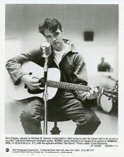MICHAEL ST GERARD AS ELVIS PRESLEY PLAYING GUITAR ELVIS MOVIE 1990 ABC TV PHOTO