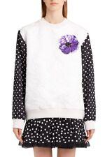 DOLCE&GABBANA Dot Sleeve Embellished Sweatshirt