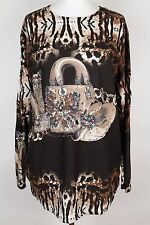 NEW WOMEN  TUNIC size  20/22  TOP LONG SLEEVE SEQUINS BLOUSE  LADIES    4315