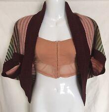 Women's Waist Length Striped Boleros Shrugs Jumpers & Cardigans