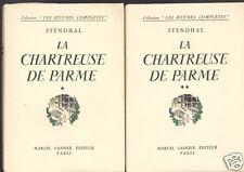 La Chartreuse de Parme en coffret de 2 Volumes, Stendhal  Ed Marcel Gasnier 1945