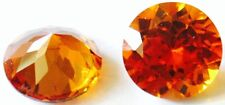 a pair of  4.5 mm Round Brillant Cut Reddish orange Created Padparacha
