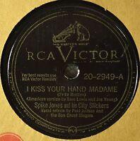 Spike Jones I Kiss Your Hand Madame 78 Comedy Novelty I'm Getting Sentimental