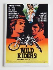 Wild Riders FRIDGE MAGNET (2 x 3 inches) movie poster exploitation motorcycle