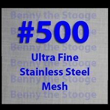 "Woven Wire Mesh Stainless Steel 500 Mesh 6""x6"" Filtration FREE SHIPPING"