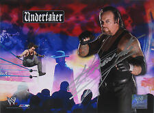 WWE UNDERTAKER HAND SIGNED AUTOGRAPHED PHOTOFILE PHOTO WITH PROOF AND COA 12