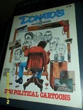 1980 Donato'S Political Cartoons Thick Book Charlie Brown Cuba Satire Etc.