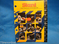Stant Catalog Gas Oil Radiator Caps Heater Parts 1989 Buyers Guide Numerical New