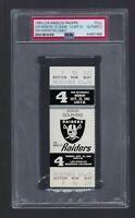 1983 NFL MIAMI DOLPHINS @ RAIDERS FOOTBALL TICKET - DAN MARINO DEBUT - PSA AUTH