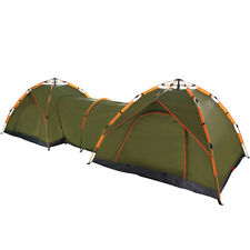 Qwest Automatic Instant Pop Up Camping Double Tent Shelter with Passageway Green