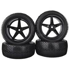 4PCS 85mm RC 1:10 Off-Road Car Buggy Foam Rubber Tyre Tires & Wheel Rim 66005A