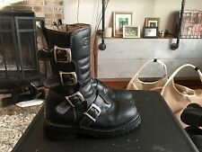 GBX Black Leather Motorcycle / Harness Boots Women's Size 7.5 M