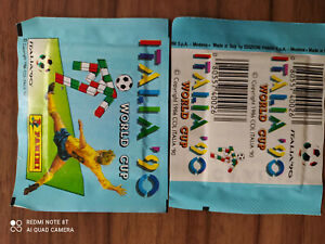 PANINI WORLD CUP 1990 WM 90 ITALIA* 2 x TÜTE PACK BUSTINA horizontal back