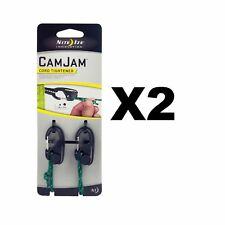 Nite Ize CamJam Cord Tightener Black Small w/ Rope Lightweight  (2-Pack of 2)