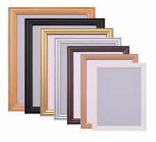 Wooden Black White Beech Gold Oak Picture Frame Photo Frames Poster Size Frame