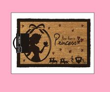 A Princess Lives Here Cinderella Snow White Door Welcome Mat Disney playhouse