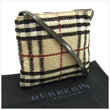 Burberry Shoulder bag Beige Black Woman Authentic Used Y1303
