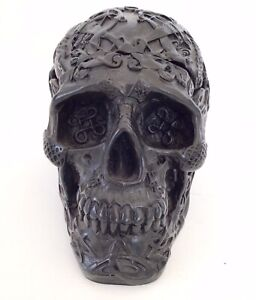 Celtic Black Skull Gothic Storage Trinket Ornament Nemesis Now - Rare
