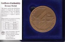 ISRAEL 1993 14th MACCABIAH INT'L JEWISH SPORT GAMES STATE MEDAL 59mm BRONZE