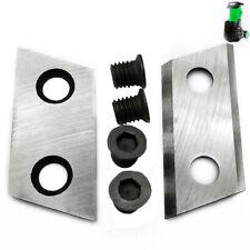Cepilladora Cuchillas de acero de alta velocidad 2.37 pulgadas 60mm para Eco-Shredder ES1600; ROK trituradora de 2000W - 2PC