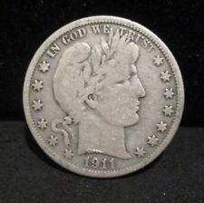 1911-D Barber Silver Half Dollar - Fine        ENN COINS