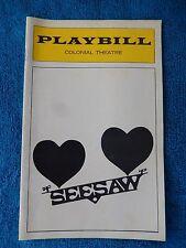 Seesaw - Colonial Theatre Playbill - April 1974 - John Gavin - Lucie Arnaz