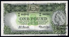 1961 One Pound QEII Australian Predecimal note - (VF+)  - HK48 860942