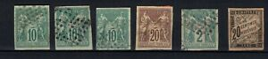 French Colonies general issue Sage types and postage due, used