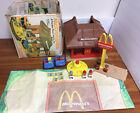 Vintage 1974 Playskool Familiar Places McDonalds Toy Playset Box Figures McD's