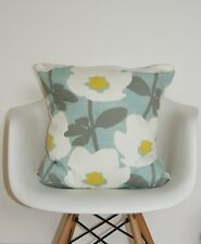 "DUCK EGG CUSHION COVER 18""PRESTIGIOUS TEXTILES ""BERMONDSEY"" SCANDI RETRO SAFFRON"