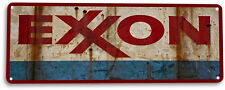 "TIN SIGN ""Exxon"" Metal Decor Wall Art Gas Oil Garage Shop Cave A359 #"
