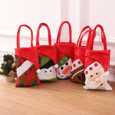 Christmas Santa Claus Design Gift Bag With Handle Xmas Pattern Candy Cloth Bag R