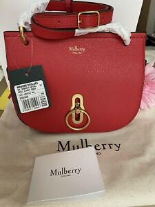 Mulberry Amberley Satchel BNWT Colour Red  Comes W Gift Receipt sold out rare