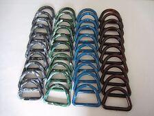 "Lot of 40 Assorted Colors 3"" D Plastic Macrame Marbella Rings Craft Supplies"